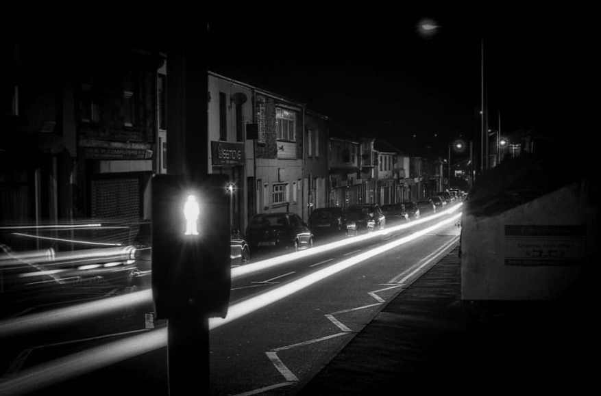 """Tim Dobbs - @timdobbsphoto - """"Do not walk"""" ... I tried a bit of night shooting for the #FP4Party @ILFORDPhoto @EMULSIVEfilm #believeinfilm #filmsnotdead"""