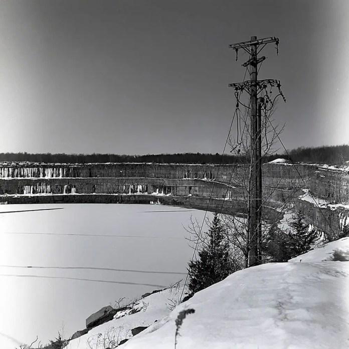 An old electrical pole at an abandoned iron mine in Marmora, Ontario Yashica-12 – Yashinon 80mm 1:2.8 – Kodak TMax 400 – Kodak D-76.