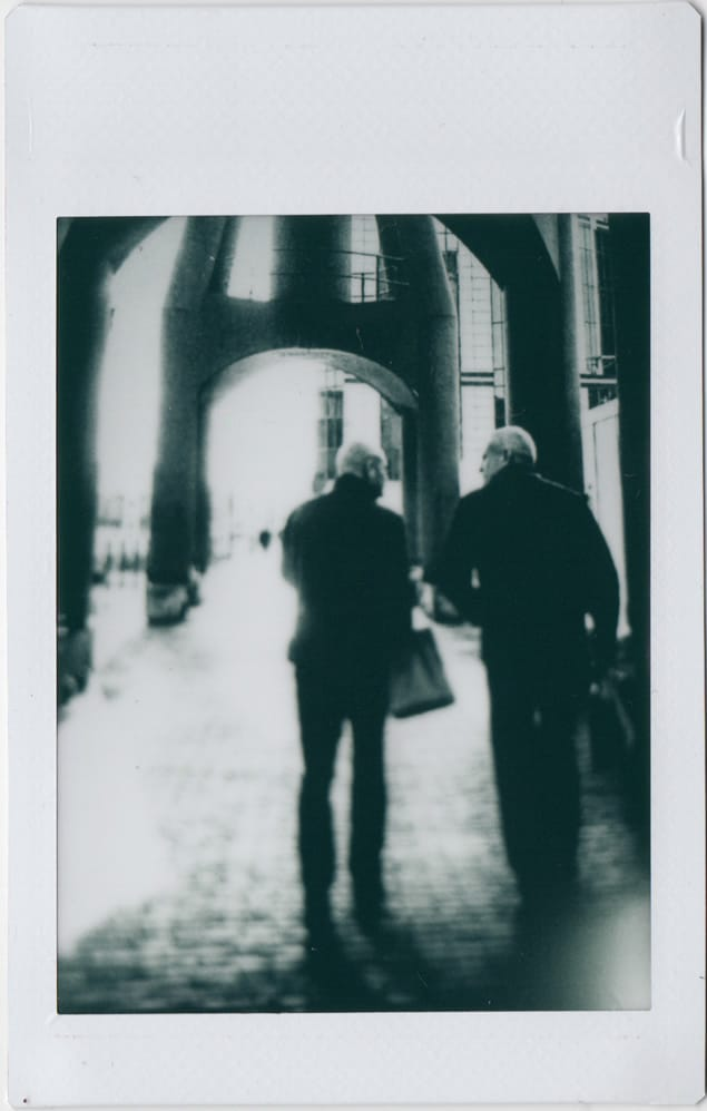 Photographer: Claudio Gomboli Title: Walking Chatting Location: London, UK Camera: Mamiya RB67 with Polaroid Back