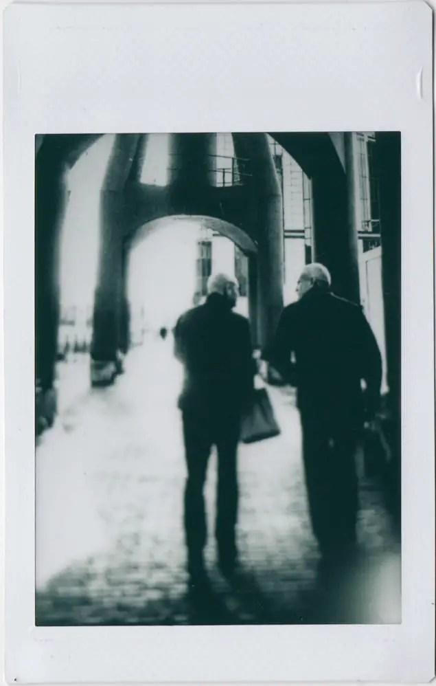 Photographer: Claudio Gomboli Title: Walking Chatting Location: London, UK Camera: Mamiya RB67 with Polaroid Back