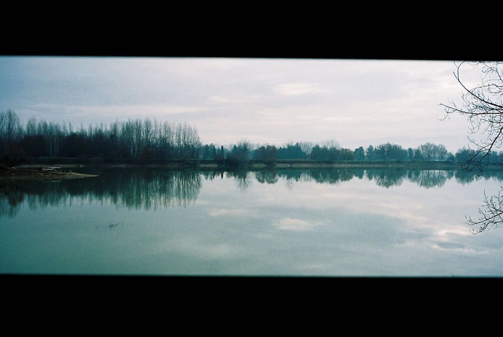Taanayel Lake - The waveform nature sings Pentax MZ-5N (panoramic mode) - Kodak film
