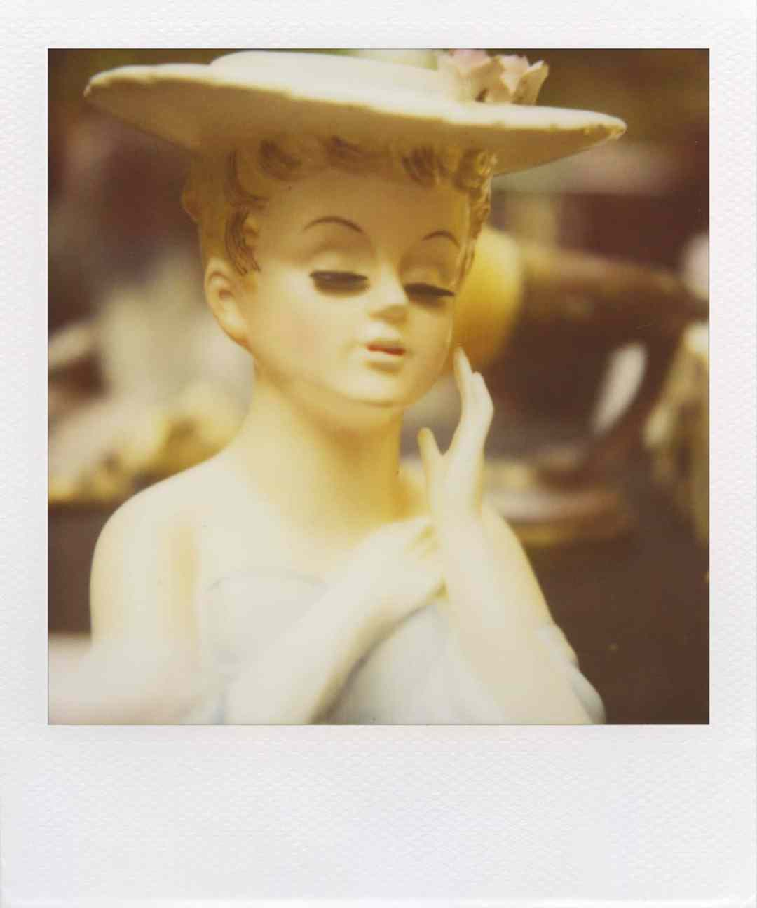 """Susie Flowerpot"" (NYC 2011) - Polaroid SX-70 Alpha 1 Land Camera with expired Polaroid 600 film and ND pack filter"
