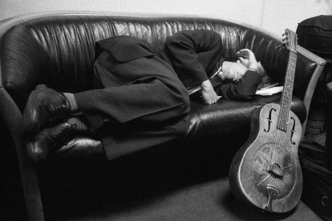 """Ribot, Napping"" (NYC 2005) - Voigtlander VSL3-E with Carl Zeiss Distagon 25mm f/2.8 lens and Ilford Delta 3200 35mm film"