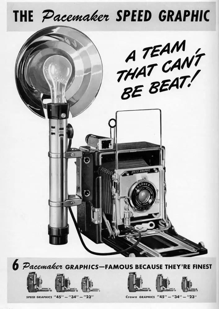 Graflex Pacemaker Speed Graphic Advert
