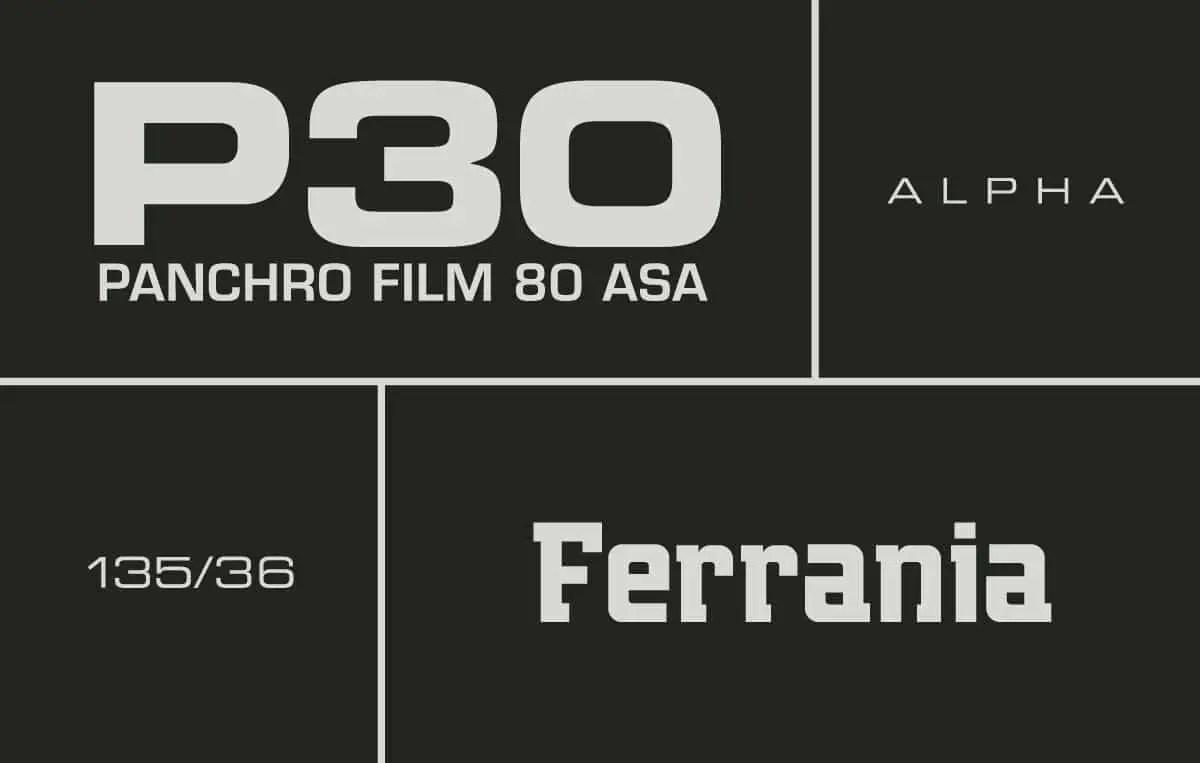 FERRANIA P30 Alpha boxfront