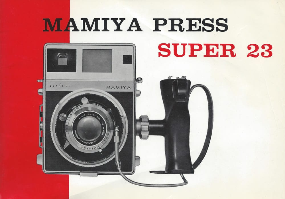 Mamiya Super 23 Manual Front Cover