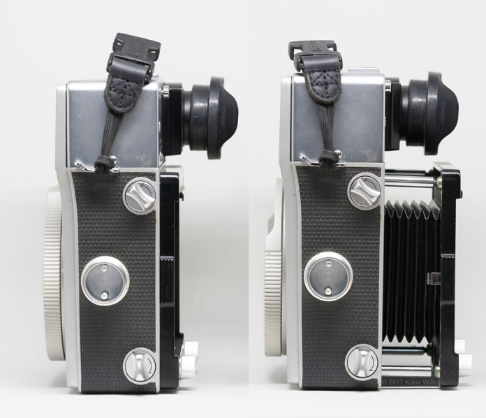 Mamiya Super 23 bellows retracted and extended