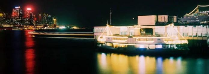 TST Star Ferry panorama crop - Kodak Portra 400 - Fuji GS645W