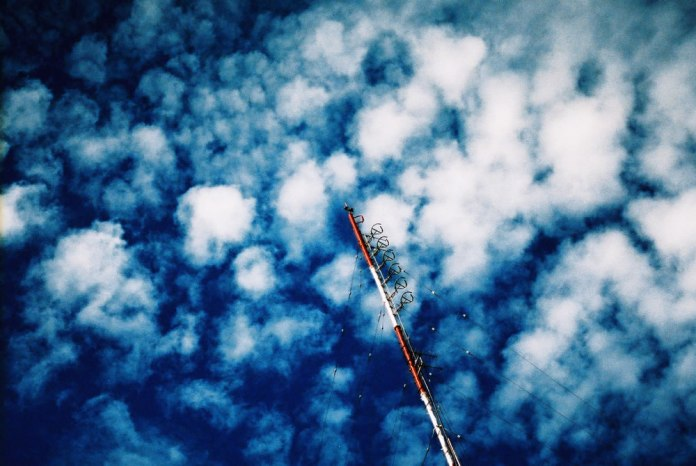 Half (a) mast - Shot on Kodak PROFESSIONAL ELITE Chrome 100 (EB-3) at EI 100. Color reversal (slide) film in 35mm format. Cross processed.