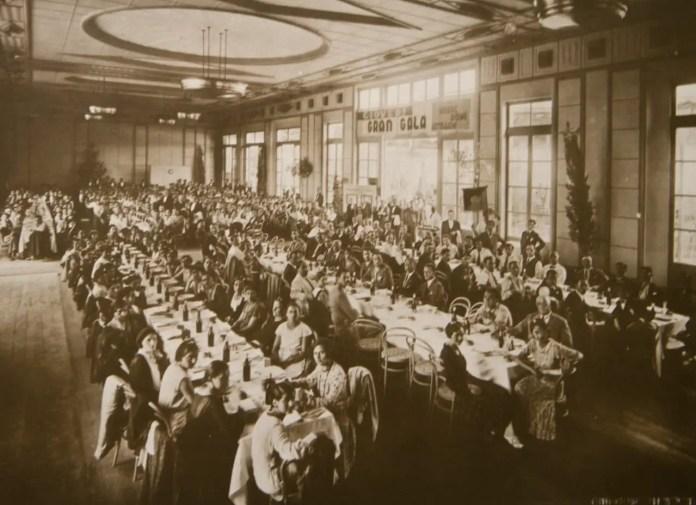 Gala employee luncheon in Venice, 1930s (archival image courtesy FILM Ferrania)
