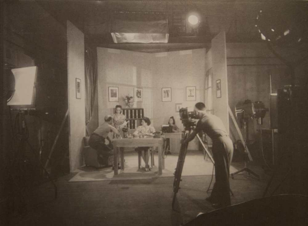 A cinema film test at the Ferrania studio, 1930s (archival image courtesy FILM Ferrania)