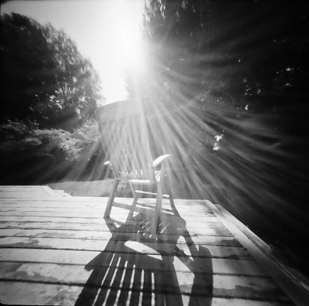 Monika‏ - @DrMarsRover #SummerFilmParty #Home, Housebound: To sit in the sun, on a day like this. @ILFORDPhoto PanF+ | Reality So Subtle pinhole