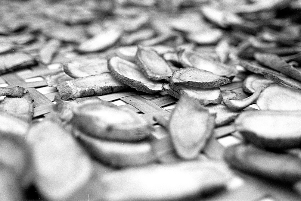 Ginger snaps - Lucky New SHD 100 shot at EI 50. Black and white negative film in 35mm format.