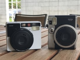Leica Sofort and Fuji Instax Mini 90 - front
