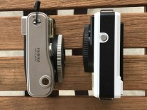 Leica Sofort and Fuji Instax Mini 90 - top plate