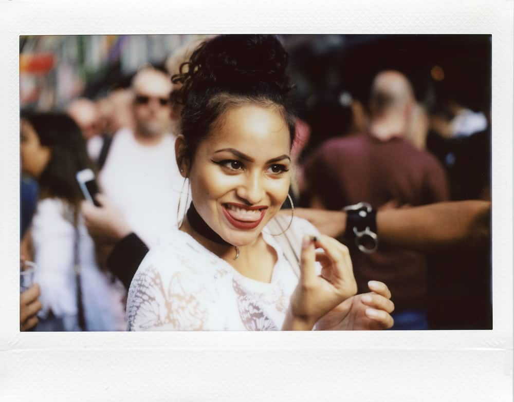 Pride Amsterdam 2017 Fuji Instax @ 800 Mamiya Universal with a custom cut, glued and taped Lomography Belair back attached. 100mm lens, shot with a ND filter so I could shoot it @ f3.5 in daylight.