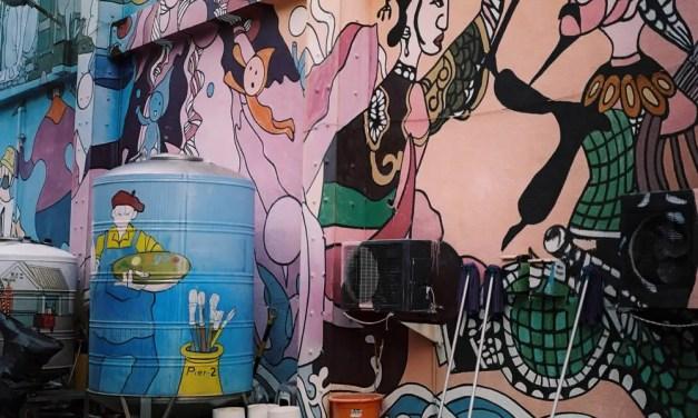 Back street mural – Shot on Kodak Portra 160VC (120)