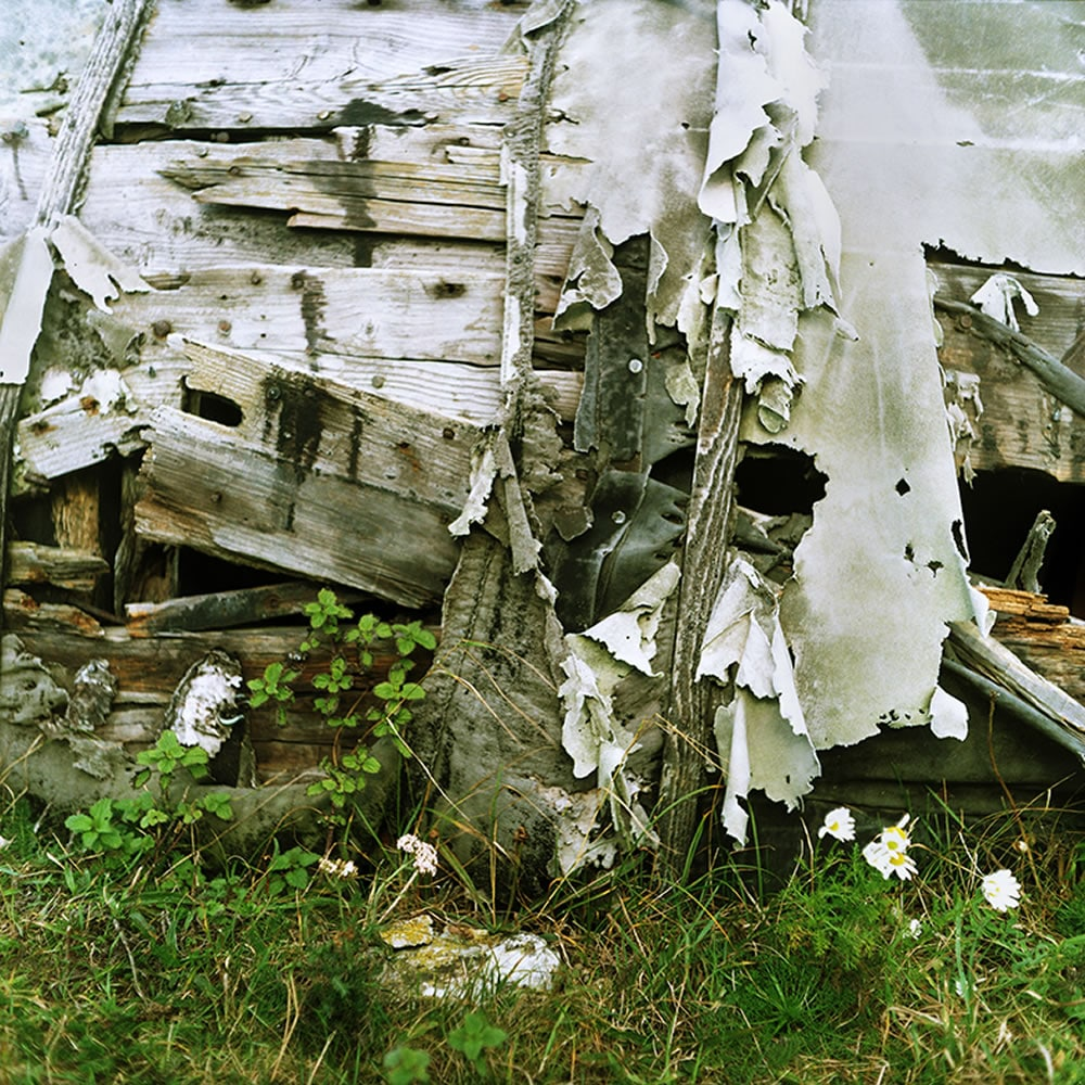 Lomography Color Negative 100 - Mamiya C220 - Ruined upturned boat