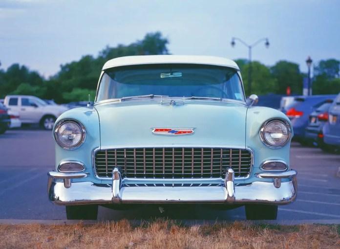 Blue Chevy on KODAK EKTACHROME 100VS