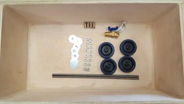 Building a semi-automatic film processor - tank roller hardware and drain