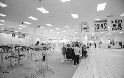 JC Penney - Shoppers peruse the last of the offerings in the final days of J.C. Penney's store in Longmont CO, July 2017 (Nikon F100, 20mm, ILFORD HP5 Plus) - Kenneth Wajda Photographer