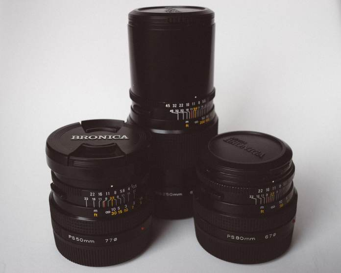 Bronica SQ-Ai - Lenses - 50mm f/3.5, 90mm f/2.8, 250mm f/5.6