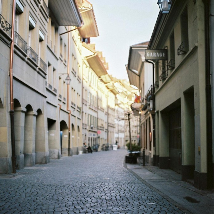 Taken with a Hasselblad 503 CW on Kodak Portra 400 in the old quarter of Bern, Switzerland.
