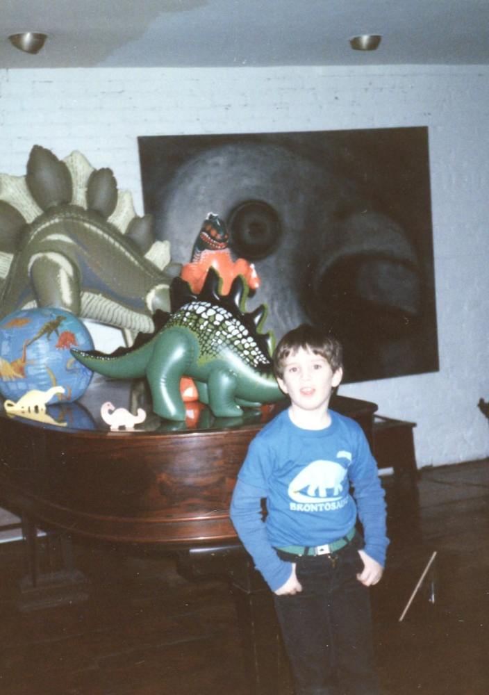 Dino Collection, Kodak Gold 35mm, ISO 400, Canon AE-1, 50mm Lens, New York City * Early photograph of me from my childhood, with my father pressing the shutter button.