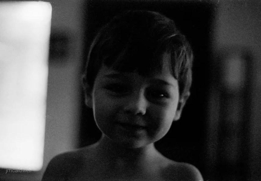 My Nephew After Opening Christmas Presents - Nikon F3, Nikon 50mm f/1.4, ILFORD Delta 3200 Professional