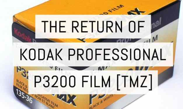 The return of KODAK PROFESSIONAL T-MAX P3200 film in 35mm format