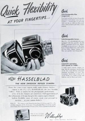 Hasselblad 1600F Advert