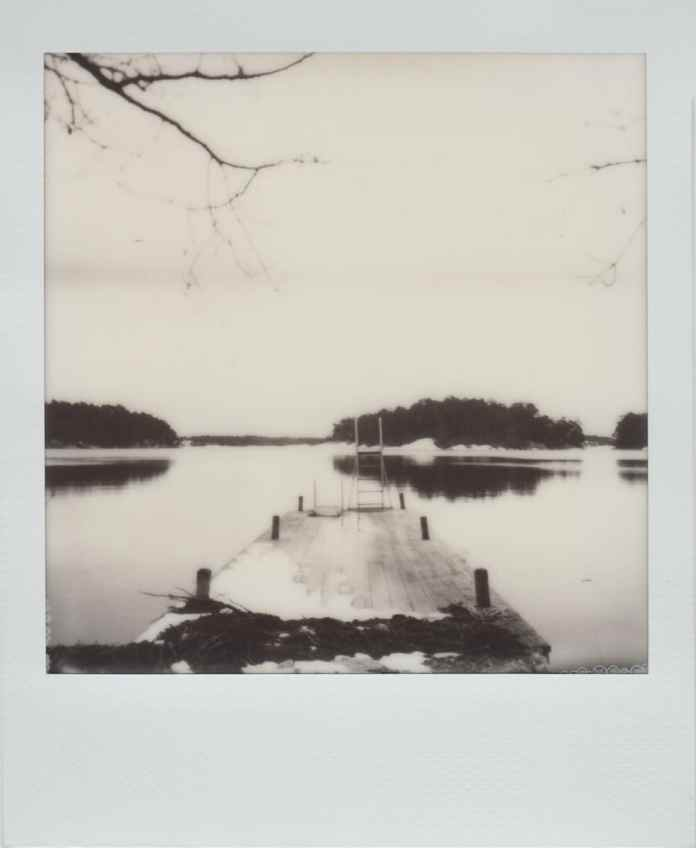 Polaroid SX-70 Land camera, model Alpha 1, The Impossible Project B&W film (on the Svartsö island in the Swedish Archipelago).