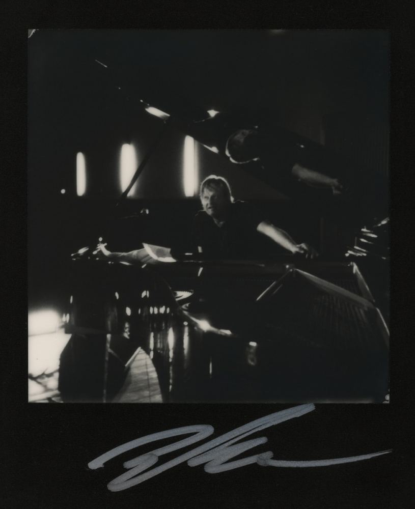 Polaroid SX-70 Land camera, model Alpha 1, The Impossible Project B&W film (Iiro Rantala at Timișoara Jazz Festival 2017)