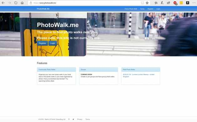PhotoWalk.Me - Desktop Home