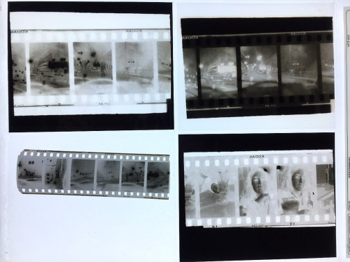 High Speed Journey - Half-frame negatives and enlarged negatives and positives for screen printing