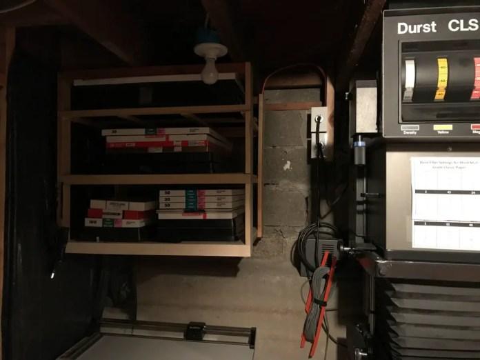 Paper storage area