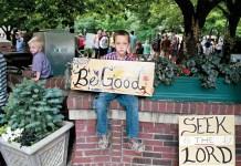Street preacher's son