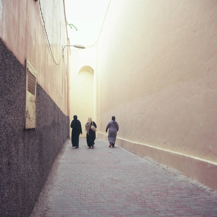 Kodak EKTACHROME E100G - One of the quieter street scenes in Marrakesh