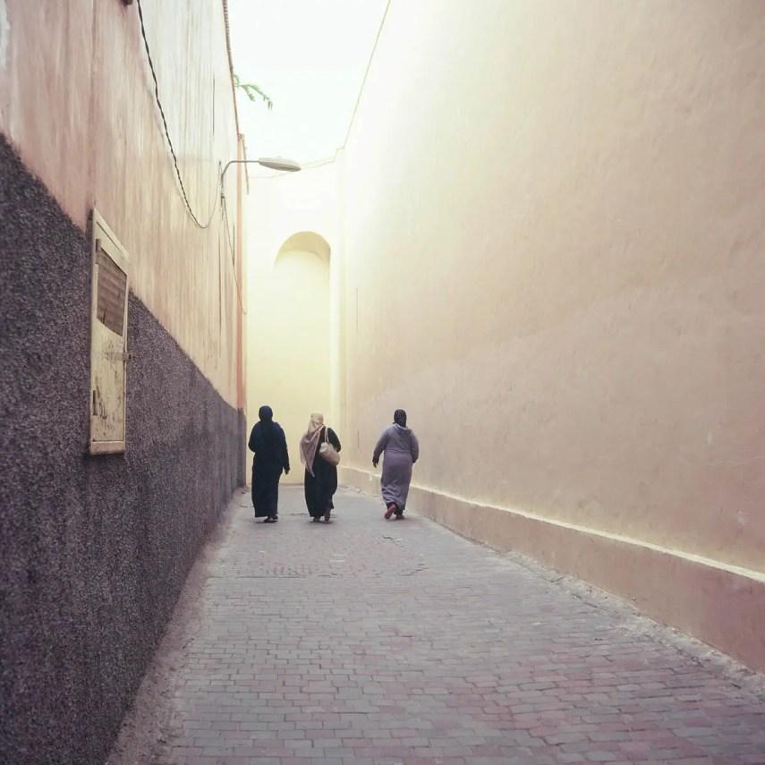 Kodak EKTACHROME E100G - One of the quieter street scenes in Marrakesh