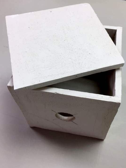 The Ceramic Pinhole Project - Bisque fired ceramic pinhole camera
