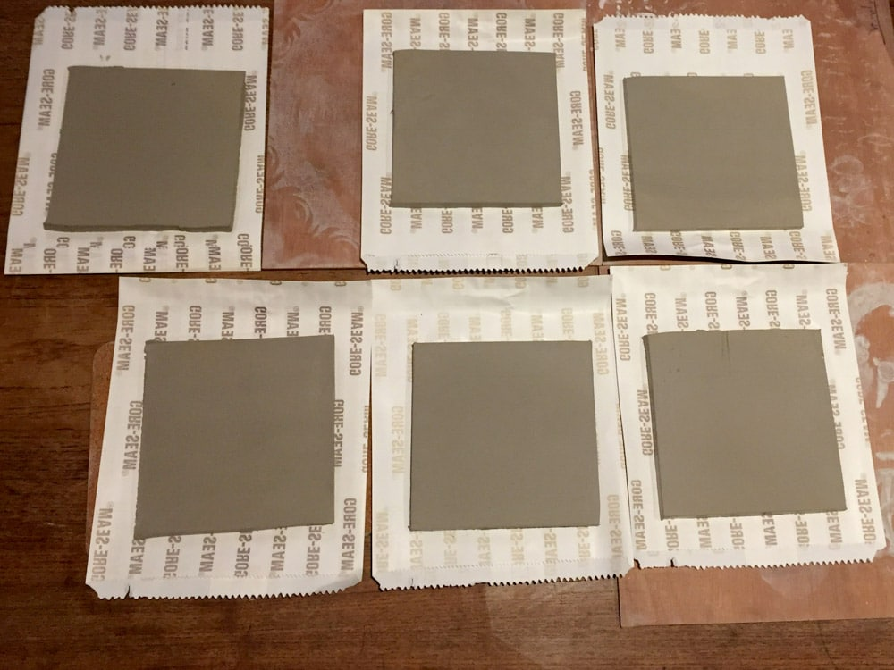 The Ceramic Pinhole Project - Six Slabs Laid Out