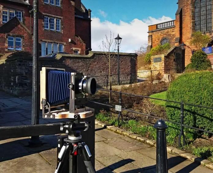 Intrepid 4x5 - posing in Rochdale
