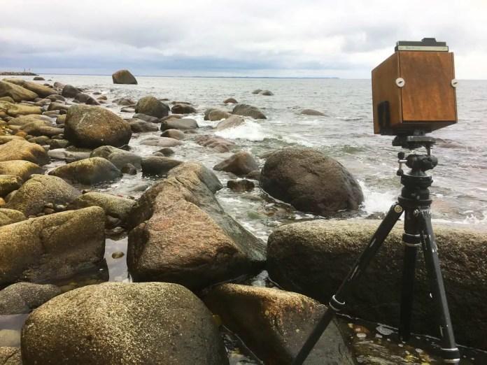 Jens Kotlenga DIY Pinhole camera in action