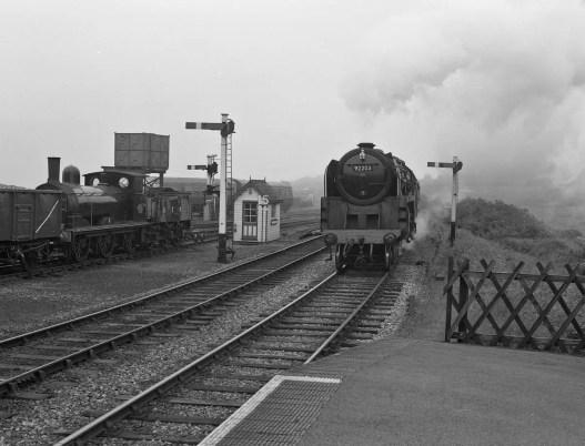 Steam locomotive arriving at Weybourne, Norfolk. North Norfolk Railway - ILFORD Delta 400 Professional, ILFORD ID-11, 1+1, 14mins, 68°F