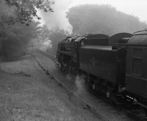 Steam locomotive departing Weybourne, North Norfolk Railway - ILFORD Delta 400 Professional, ILFORD ID-11, 1+1, 14mins, 68°F
