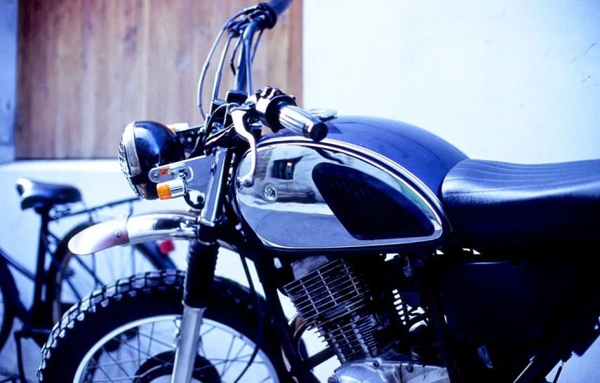 Scrambler - Shot on Fuji Velvia 100 (RVP100) at EI 100. Color reversal (slide) film in 35mm format.