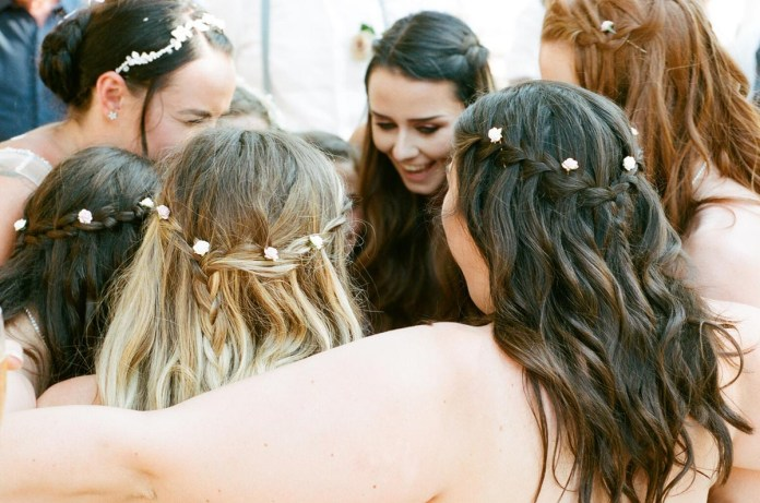 The bride and bridesmaids - Aidan and Becca's wedding - Kodak Portra 400 - Ted Smith 04