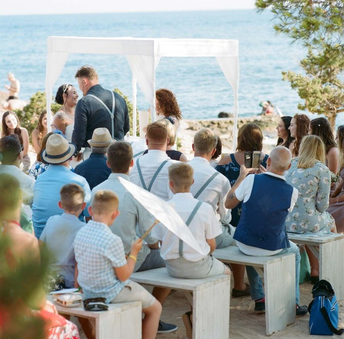 The ceremony - Aidan and Becca's wedding - Kodak Portra 400 - Ted Smith
