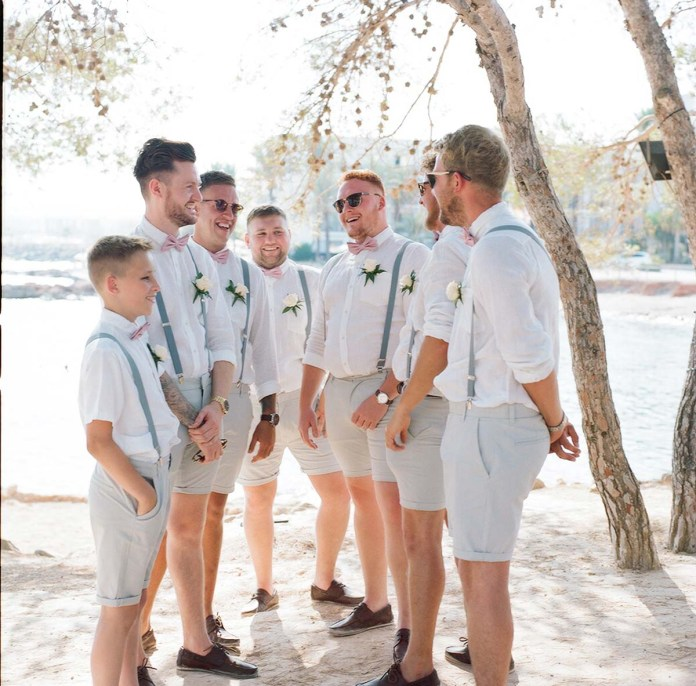 The groomsmen - Aidan and Becca's wedding - Kodak Portra 400 - Ted Smith