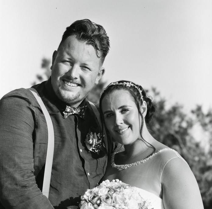 The happy couple - Aidan and Becca's wedding - Rollei RPX 100 - Ted Smith